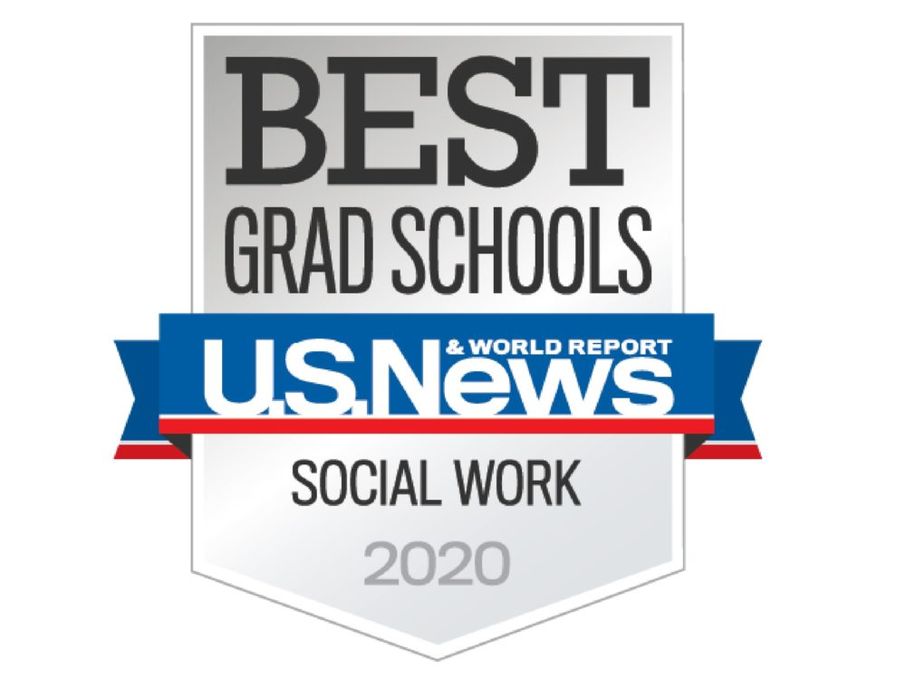 US News and World Report Social Work 2020 ranking badge